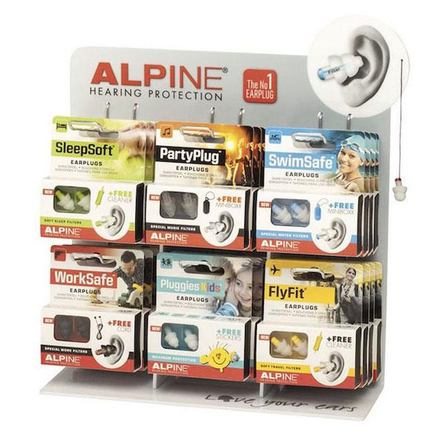 sets of alpine plastic ear plugs
