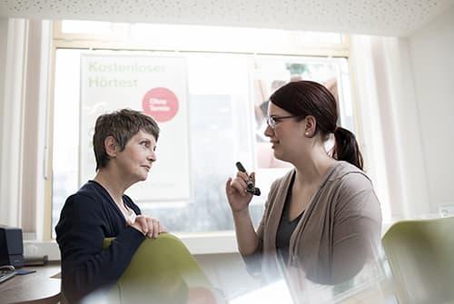 Entretien préalable à l'examen par l'audioprothésiste