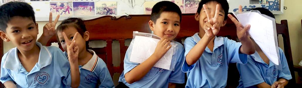Kinder in Vietnam sind begeistert von der Arbeit der Hörakustiker