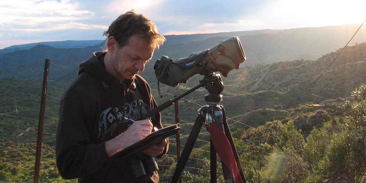 Gerald Driessens, vogelkenner bij Natuurpunt
