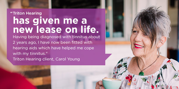 Treating tinnitus with hearing aids quote from Carol