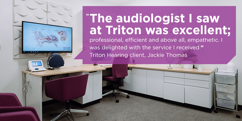 Audiologist and hearing test testimonial