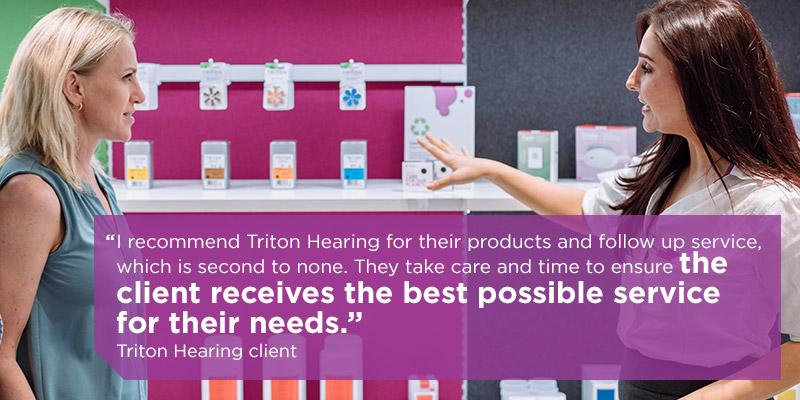 testimonial for triton hearing's client care